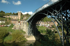 Ironbridge with views of Telford town