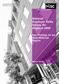 Cover of report National Employers Skills Survey 2009 report - key findings for West Midlands region